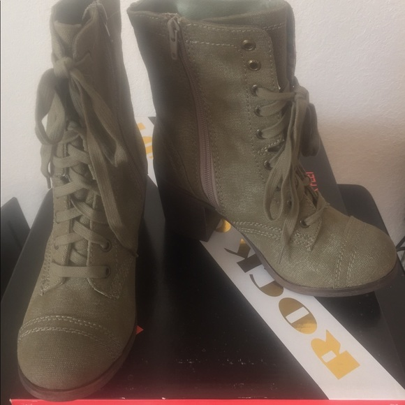 f4cbd18dffb Rock & Candy by Zigi Kiss Bliss Combat Boot NWT
